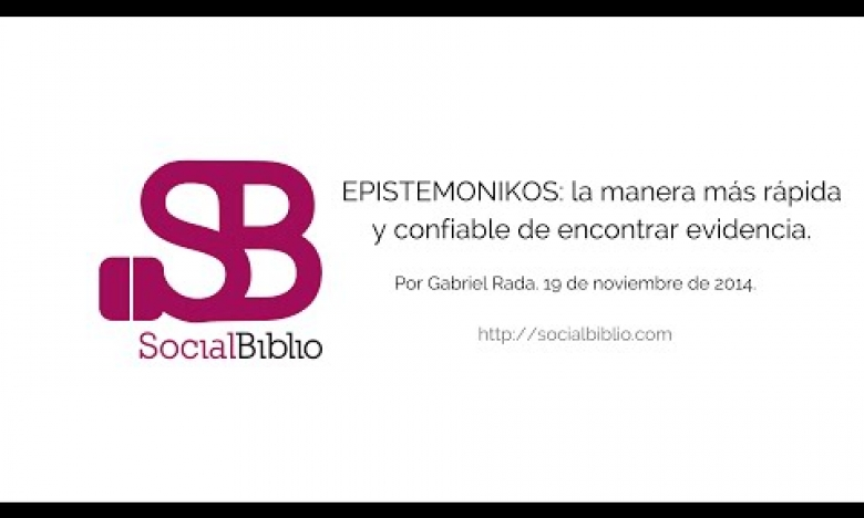 Embedded thumbnail for Epistemonikos: la manera más rápida y confiable de encontrar evidencia