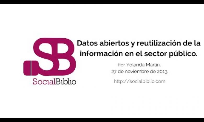 Embedded thumbnail for Datos abiertos y reutilización de la información en el sector público