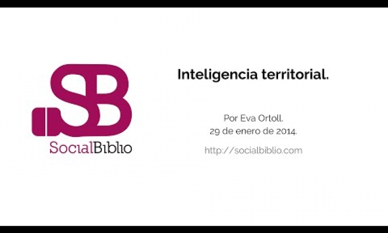 Embedded thumbnail for Inteligencia territorial