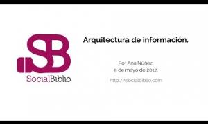 Embedded thumbnail for Arquitectura de la información