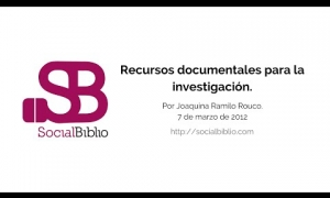 Embedded thumbnail for Recursos documentales para la investigación