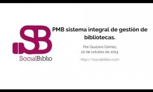 Embedded thumbnail for PMB sistema integral de gestión de bibliotecas