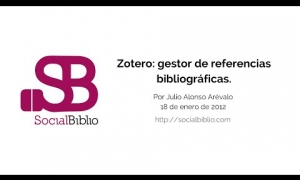Embedded thumbnail for Zotero: gestor de referencias bibliográficas
