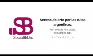 Embedded thumbnail for Acceso Abierto por las rutas argentinas