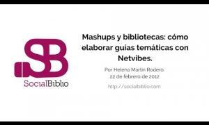 Embedded thumbnail for Mashups y bibliotecas: cómo elaborar guías temáticas con Netvibes