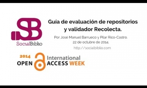 Embedded thumbnail for Semana Internacional de Acceso Abierto 2014, 22-24 de oct 2014