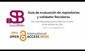 Embedded thumbnail for Semana Internacional de Acceso Abierto 2014, 22-24 de oct 2014
