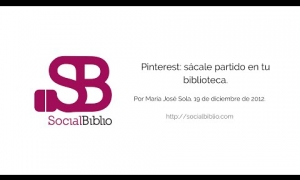 Embedded thumbnail for Pinterest: sácale partido en tu biblioteca